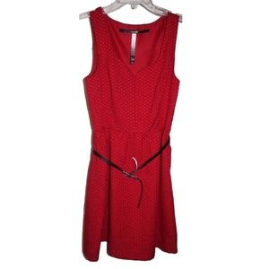 Red Kensie Ladies Detailed Sleeveless Dress XS